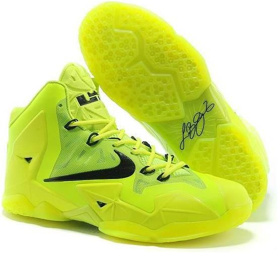 Nike LeBron 11 Womens Fluorescence Green Black For Sale
