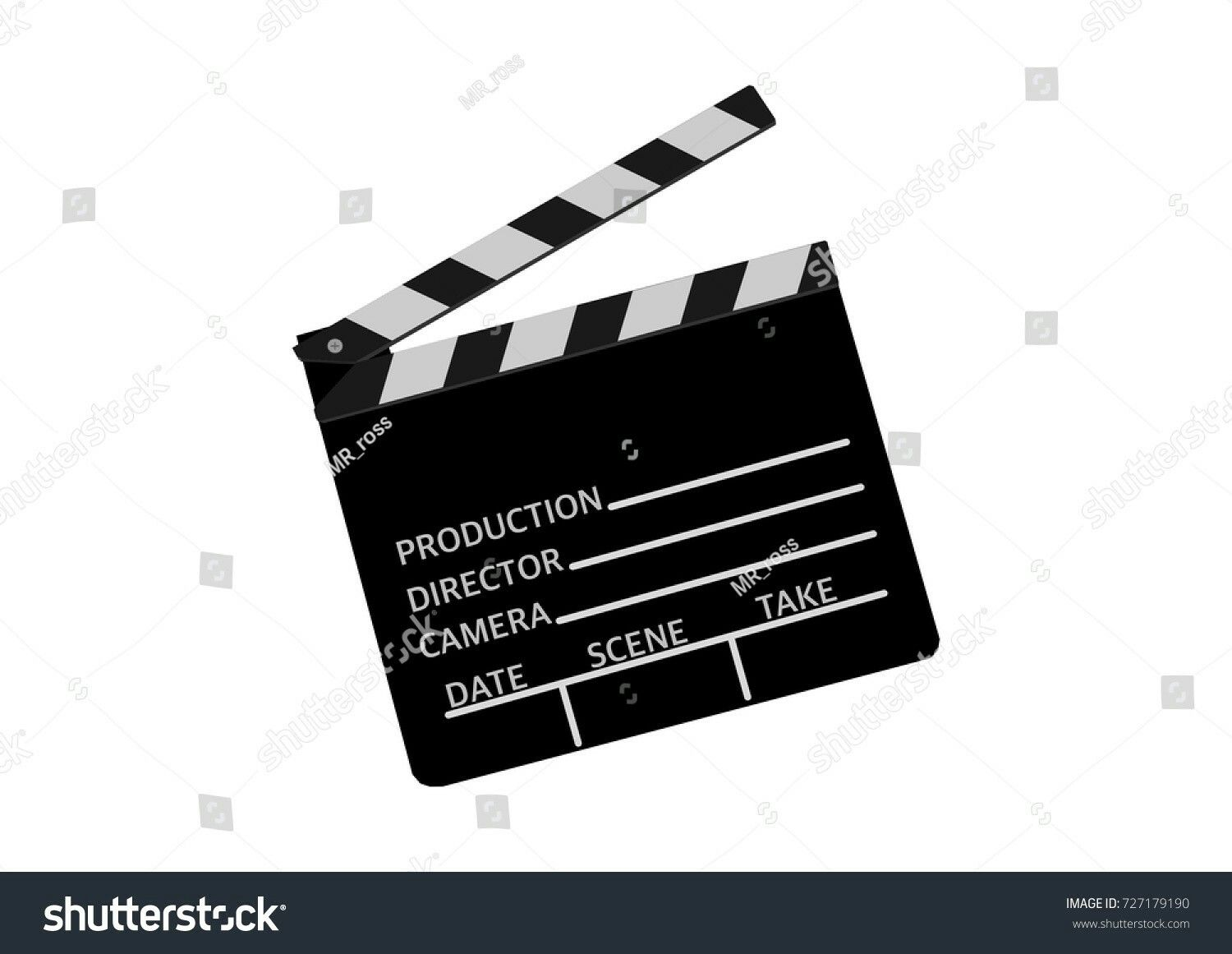 director's cut. black and white clapperboard or cinema ciack, Powerpoint templates