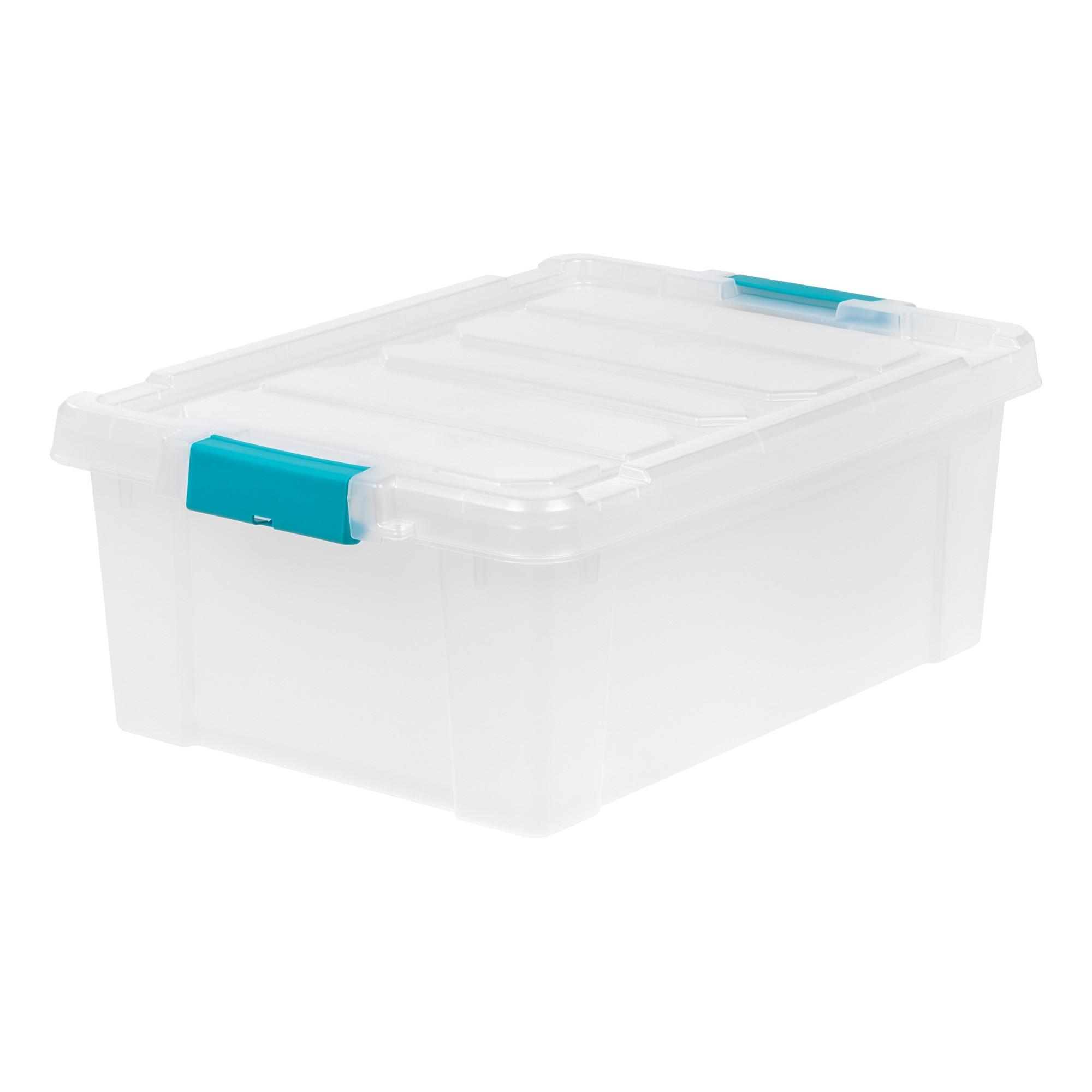 Utility Storage Bins Plastic 4pc Blue Iris Plastic Storage Bins Plastic Storage Storage Bin