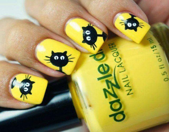 15 Lindos Diseños de Uñas en color Amarillo para el Verano   Diseños ...