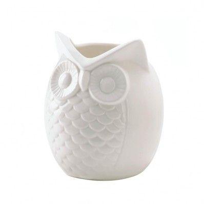 Porcelain Owl Vases