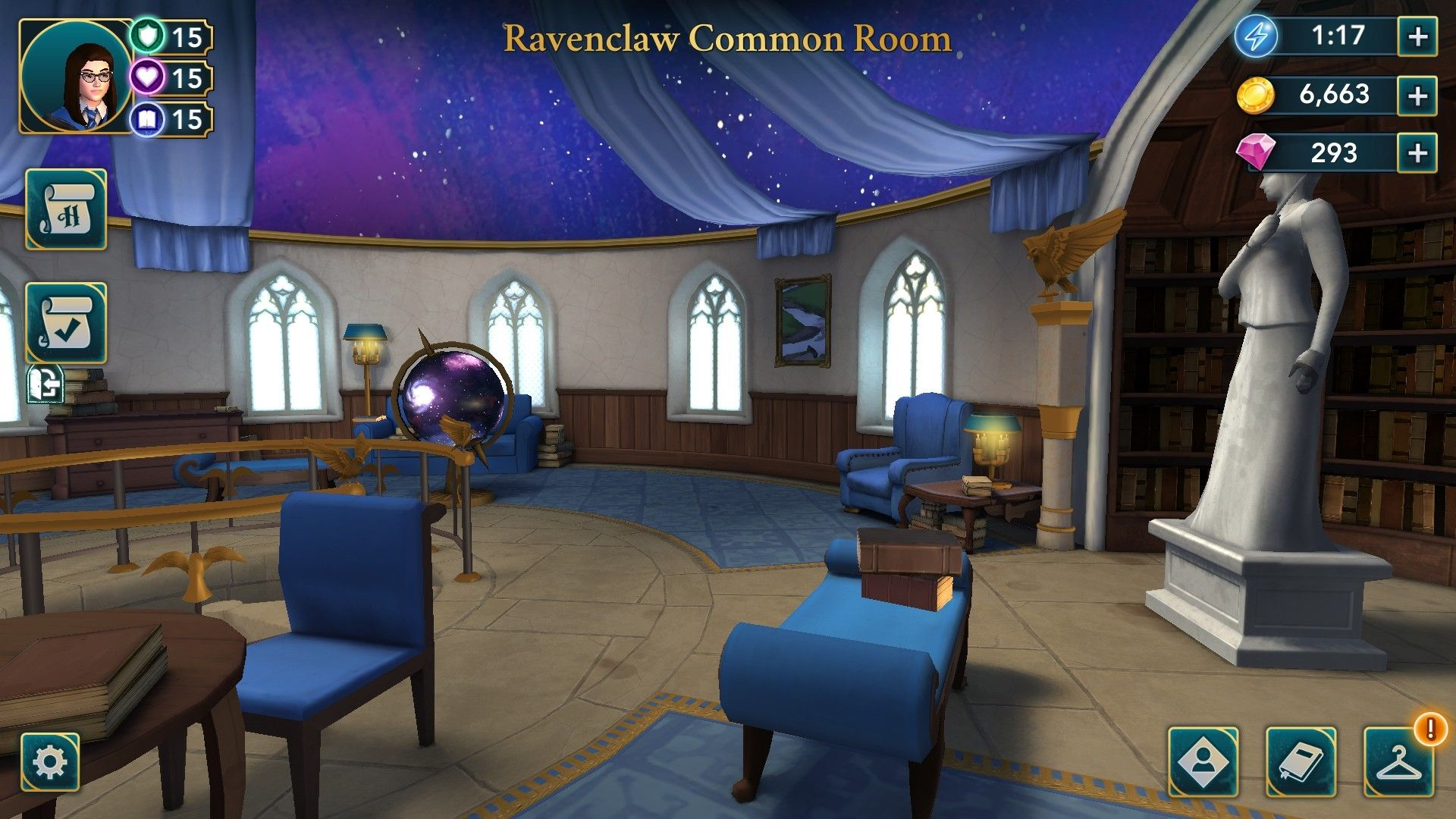 Ravenclaw Common Room Hogwarts Mystery Ravenclaw Ravenclaw Common Room