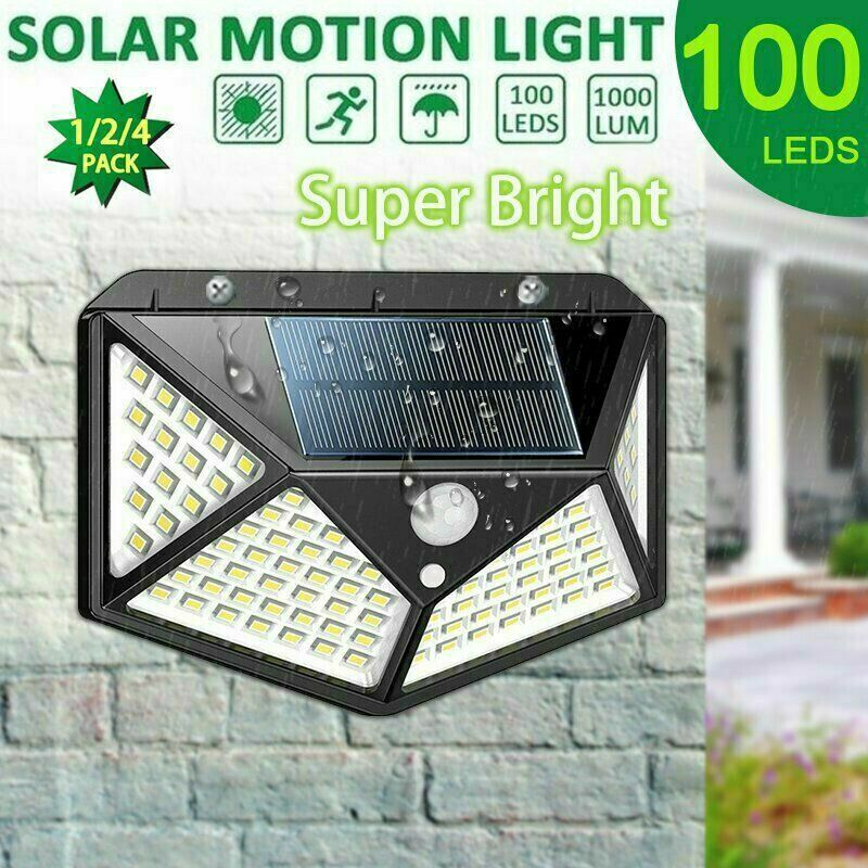100led Solar Power Pir Motion Sensor Wall Light Outdoor Walkway Garden Lamp Ip65 In 2020 Outdoor Wall Lighting Solar Motion Lights Garden Lamps