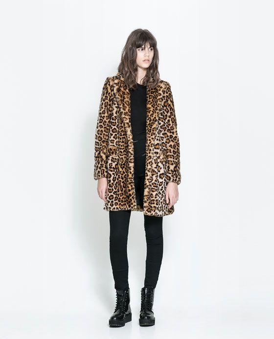 ZARA MUJER ABRIGO PIEL PATCHWORK | Zara Clothing