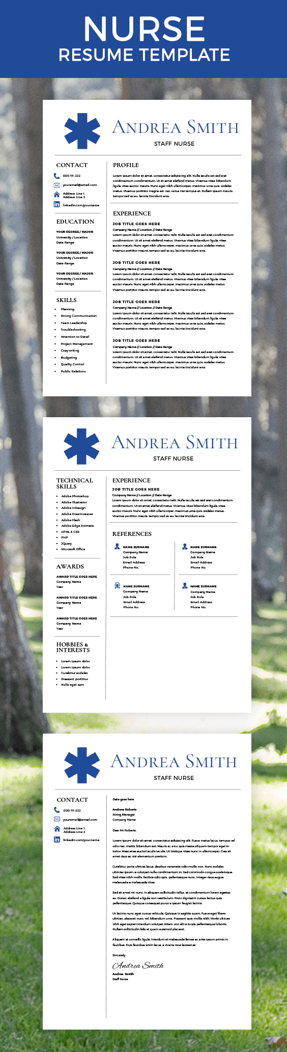 Nurse Resume Template - Nurse Staff - Top Resume Templates - CV ...