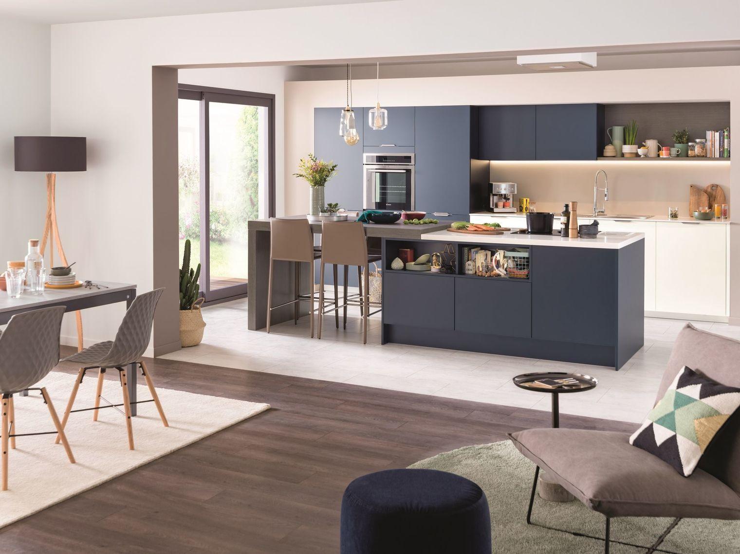 Cuisine ouverte 15 mod les de cuisiniste cuisine - Amenagement cuisine salon ...