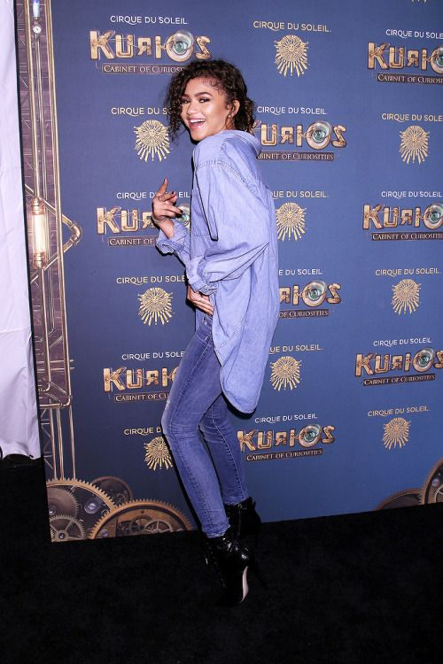 sophokonedo Zendaya poses at The Opening Night of Cirque du