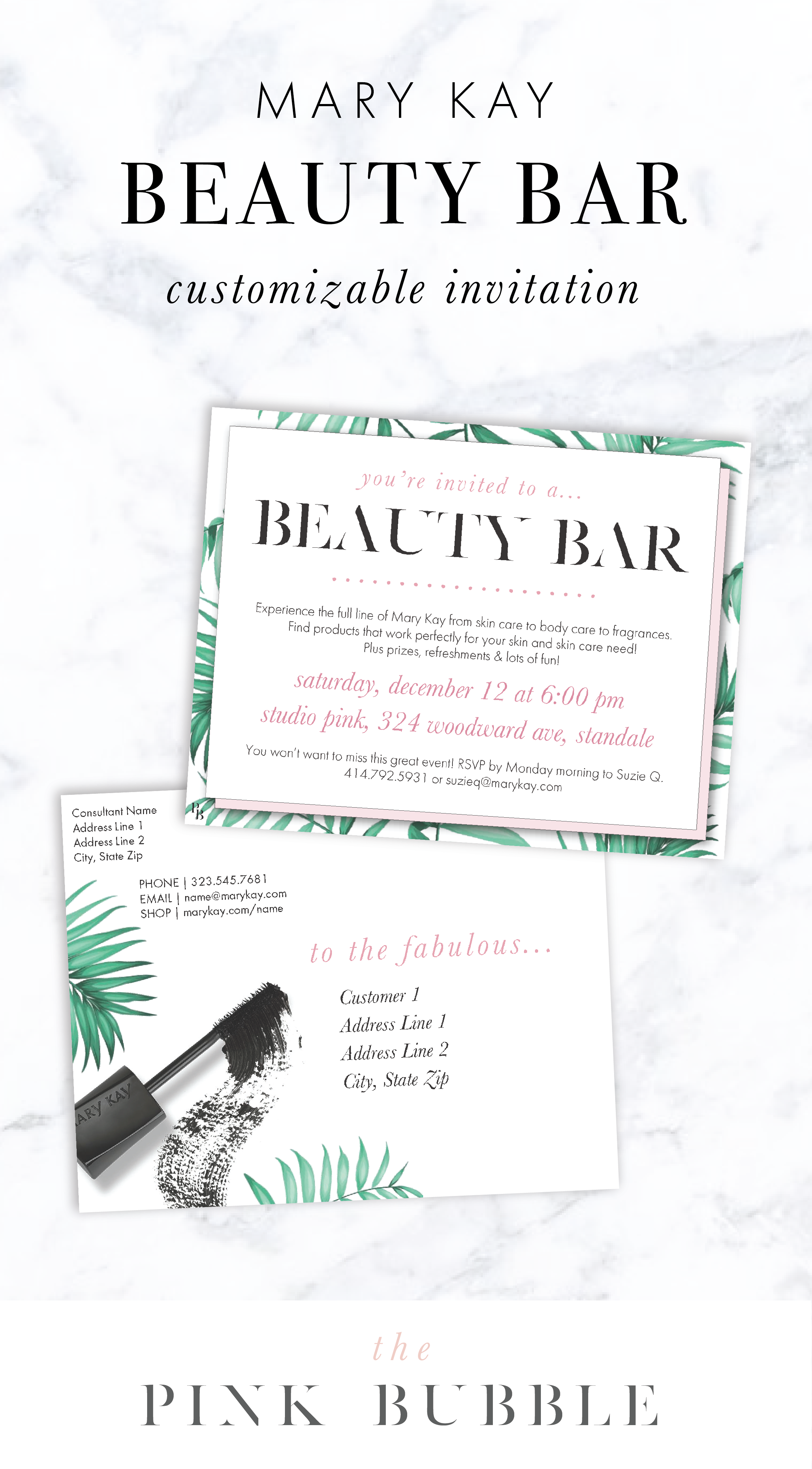 Mary Kay Beauty Bar Customizable Invitation Find It Only At Www