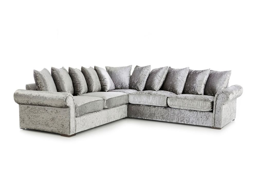 X24 The Chelsea Vip Double Arm Corner Sofa Is Perfect For Those With That Extra Space To Fill Or Those Who Need The Extra Sea Corner Sofa Sofa Crushed Velvet