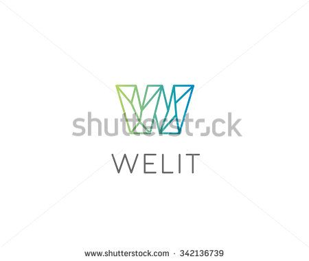 Abstract Trend Letter W Logo Design Template Colorful Structure