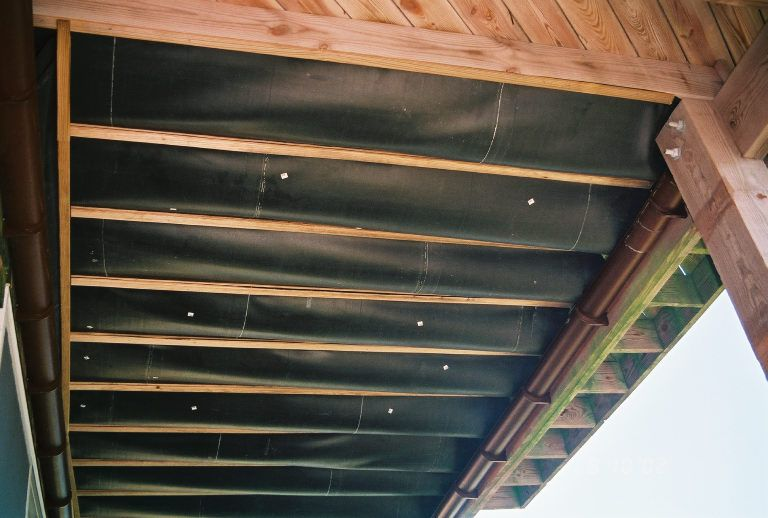 Underside Construction - DekDrain Under Deck Waterproofing System #patiodepapas