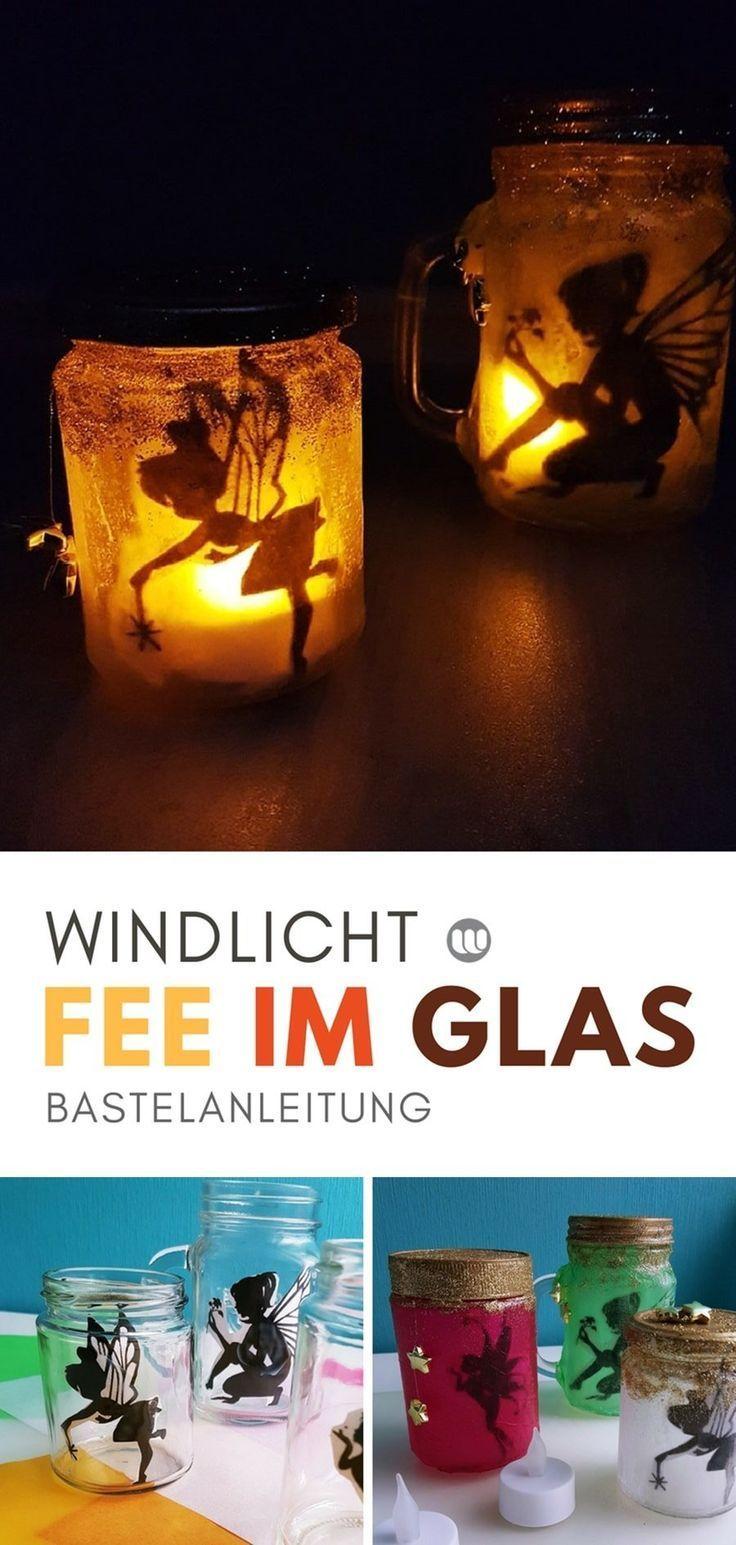 """Magische Feenlaterne: """"Fee im Glas"""" basteln mit Kindern #rezepteherbst"""