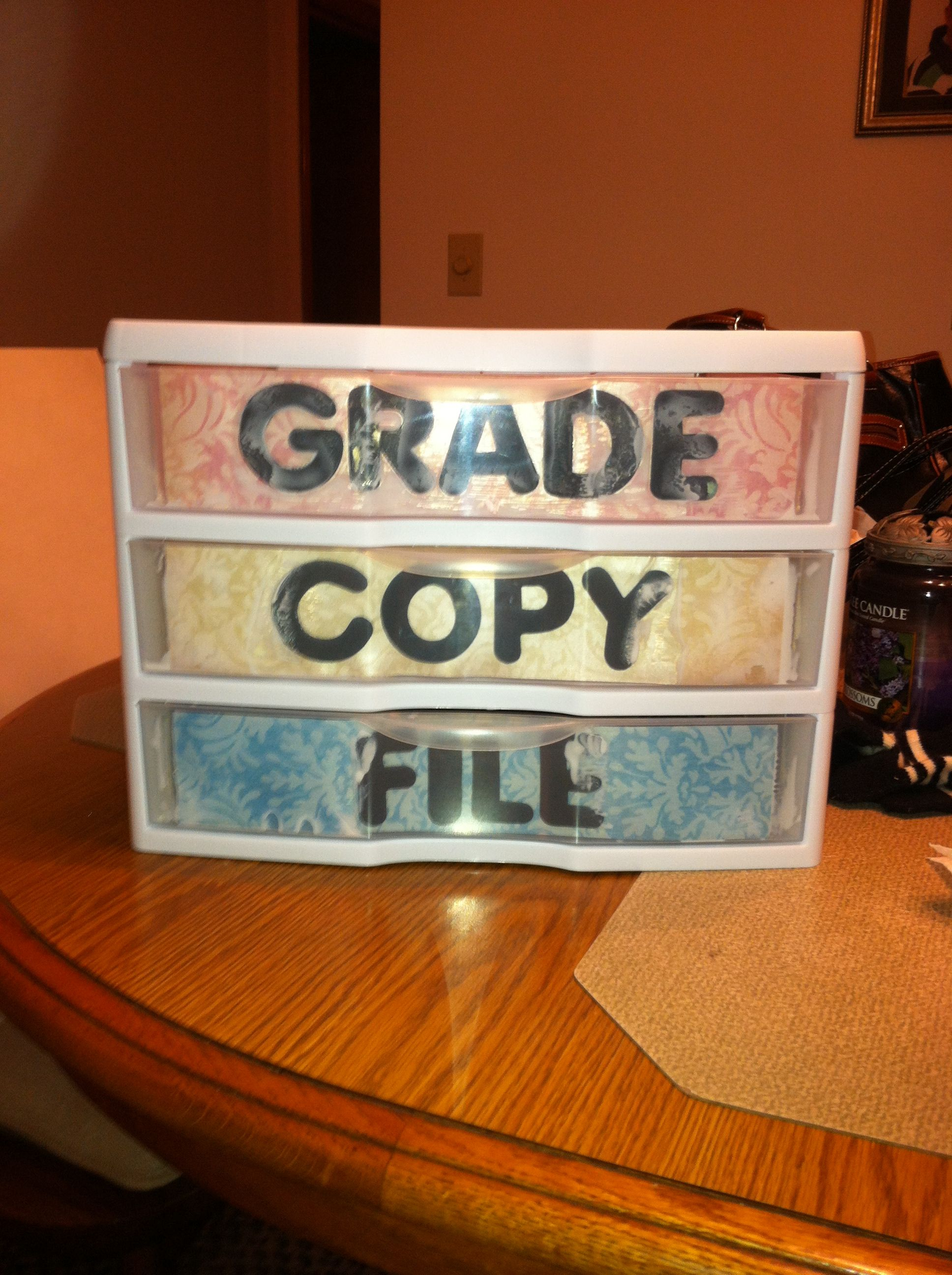 Grade Copy File Made With Scrapbook Paper And Mod