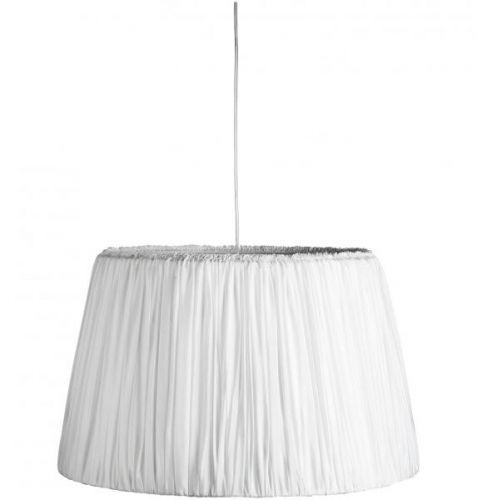 pendel fra tine k home i plisseret silke hvit creme x large taklampe str d 60 x h 46 cm. Black Bedroom Furniture Sets. Home Design Ideas