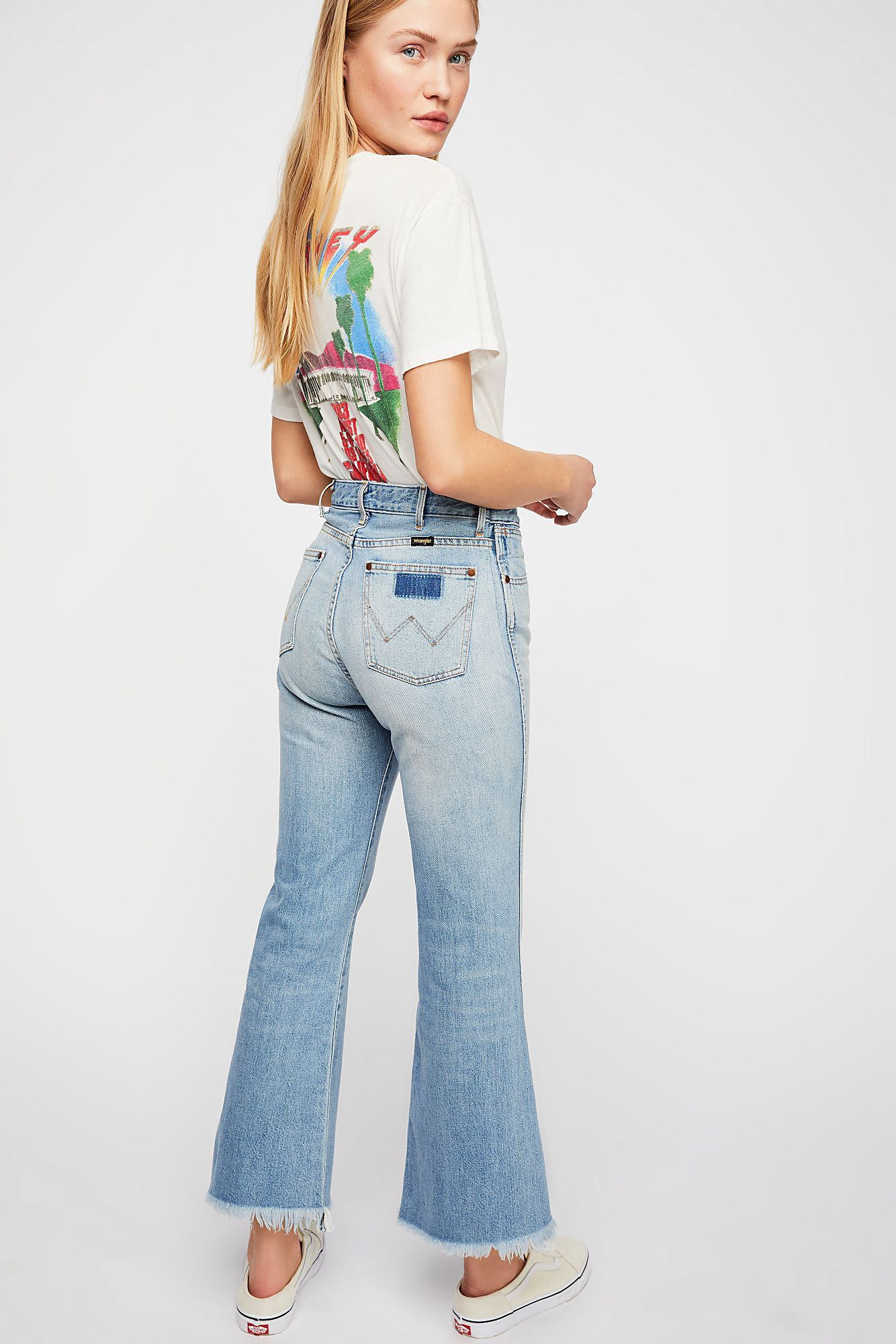 e8f2db32ddc Free People Wrangler Retro Crop Flare Jeans - 26 in 2019 | Products ...