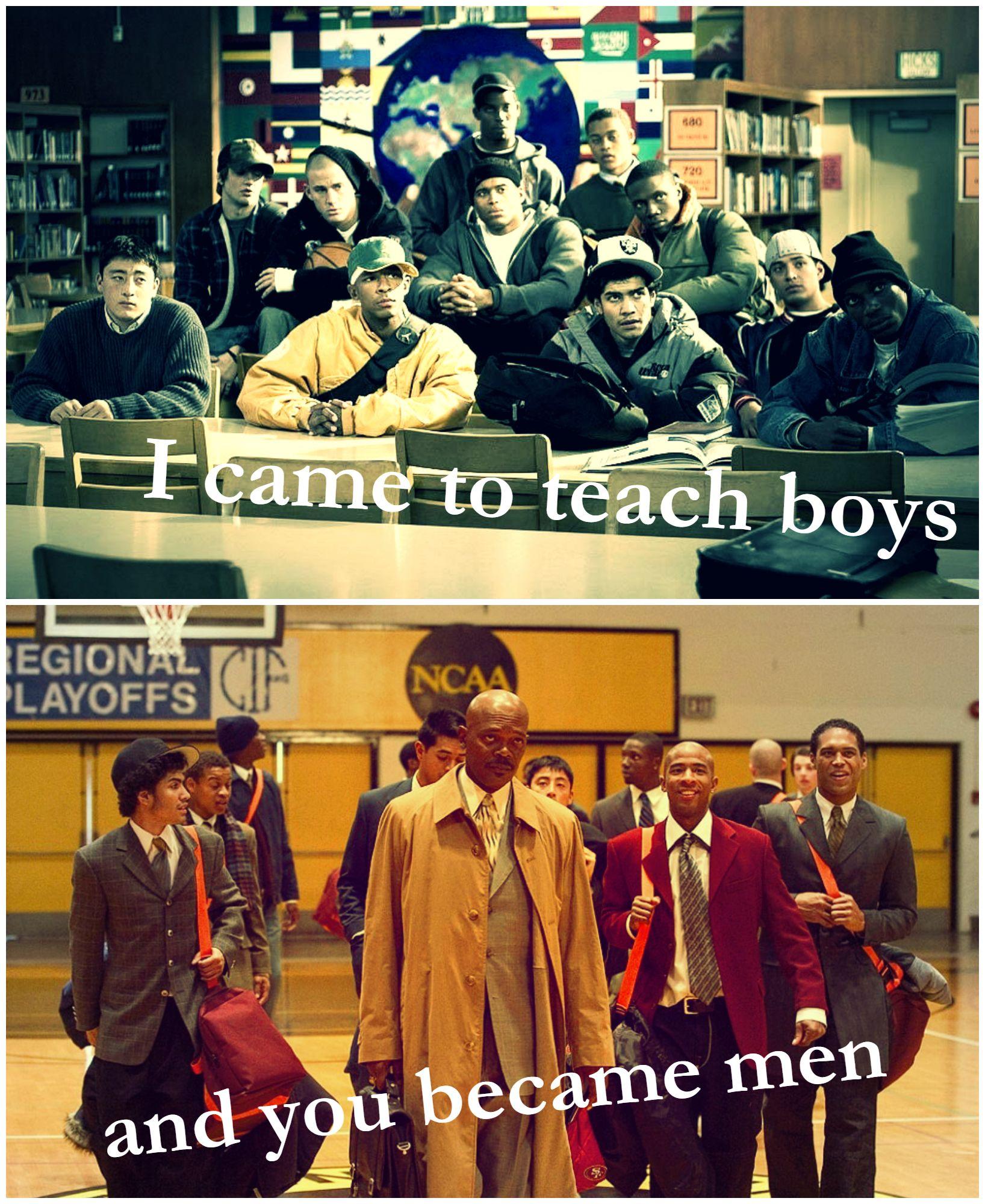 coach carter i came to teach boys and you became men samuel  coach carter essay coach carter i came to teach boys and you became men
