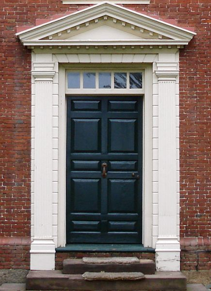 10 Panel Door With Handsome Surround In Salem Massachusetts Doors Historic Doors House Exterior