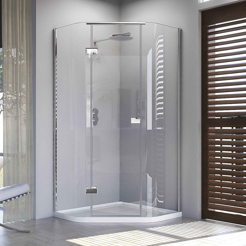 Matki Illusion Quintesse Corner Shower Enclosure With Tray In 2020 Corner Shower Enclosures Corner Shower Shower Enclosure