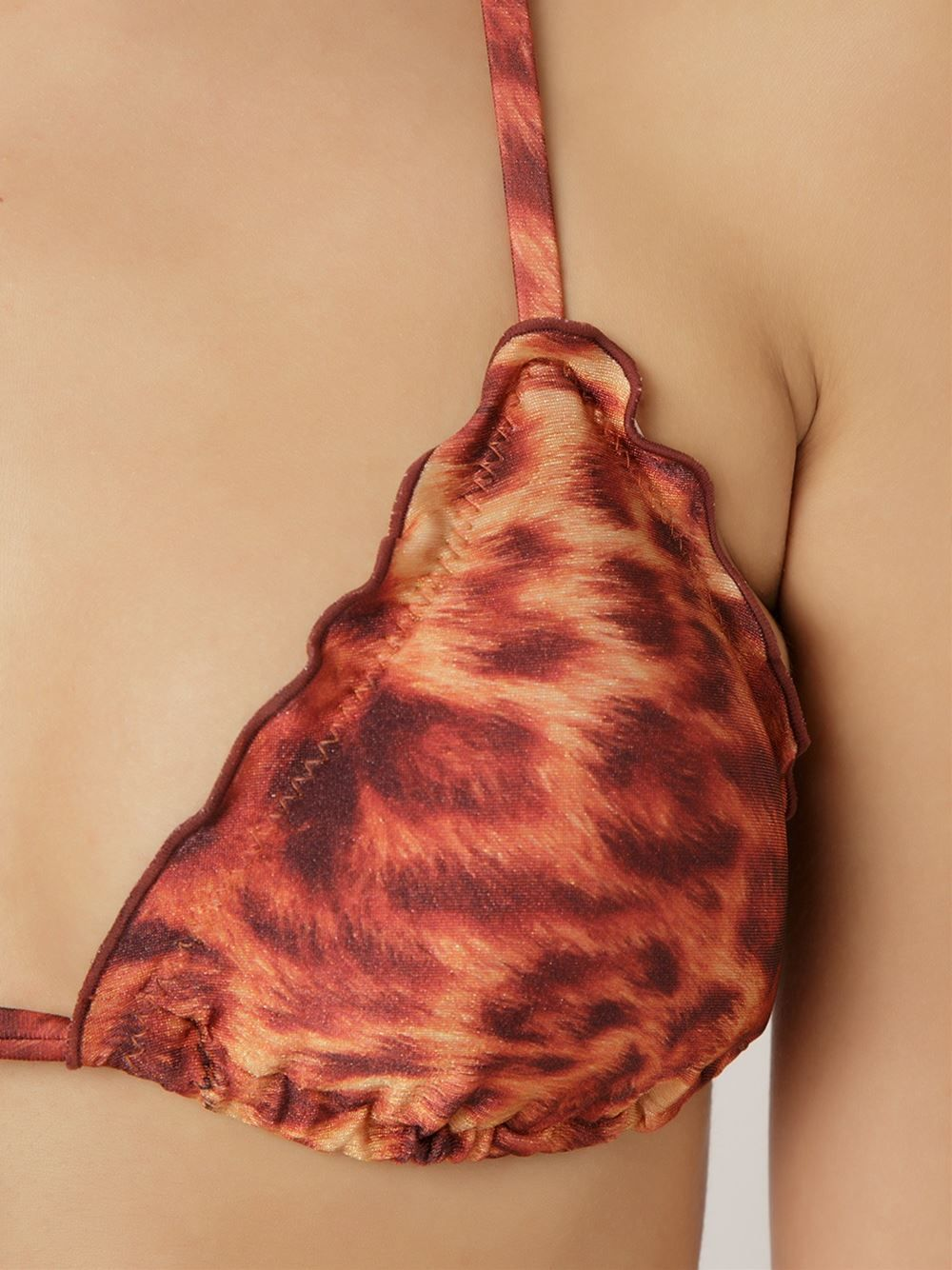 Água De Coco Biquíni cortininha animal print