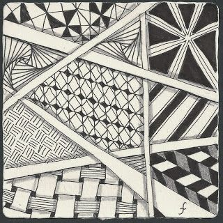 Pattern Play with Pens: Weekly Challenge 14- I walk the Line