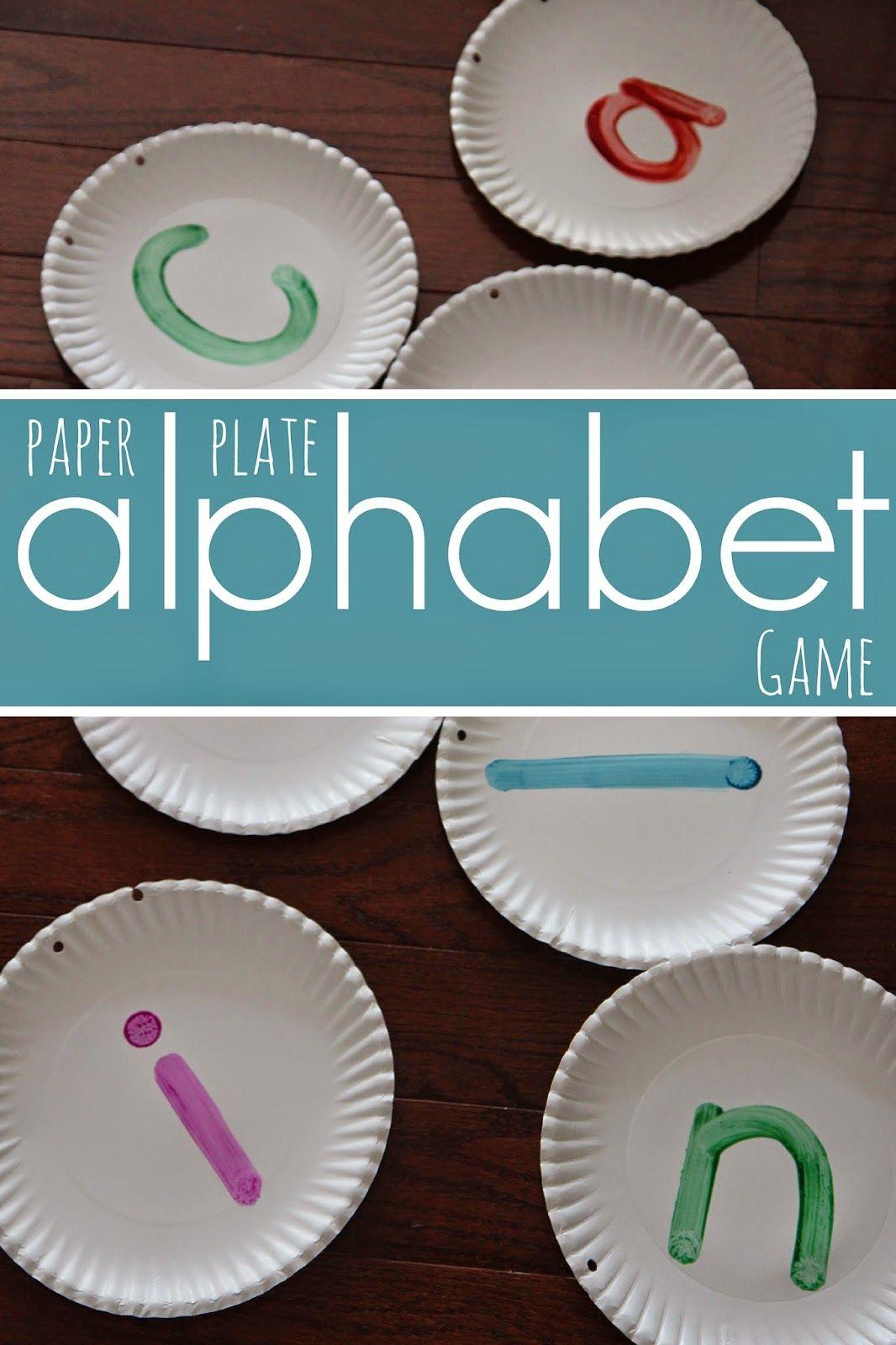 Preschool Paper Plate Alphabet Game Back To School Basics