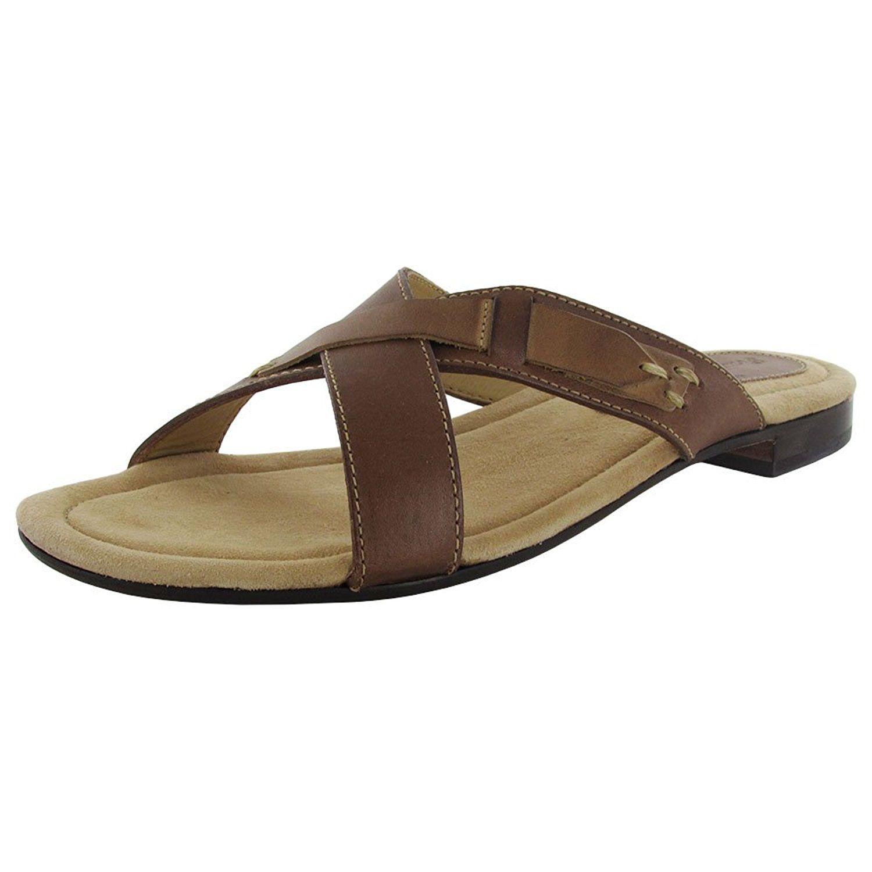 'Crossed Acean' Slides Womens Sandals