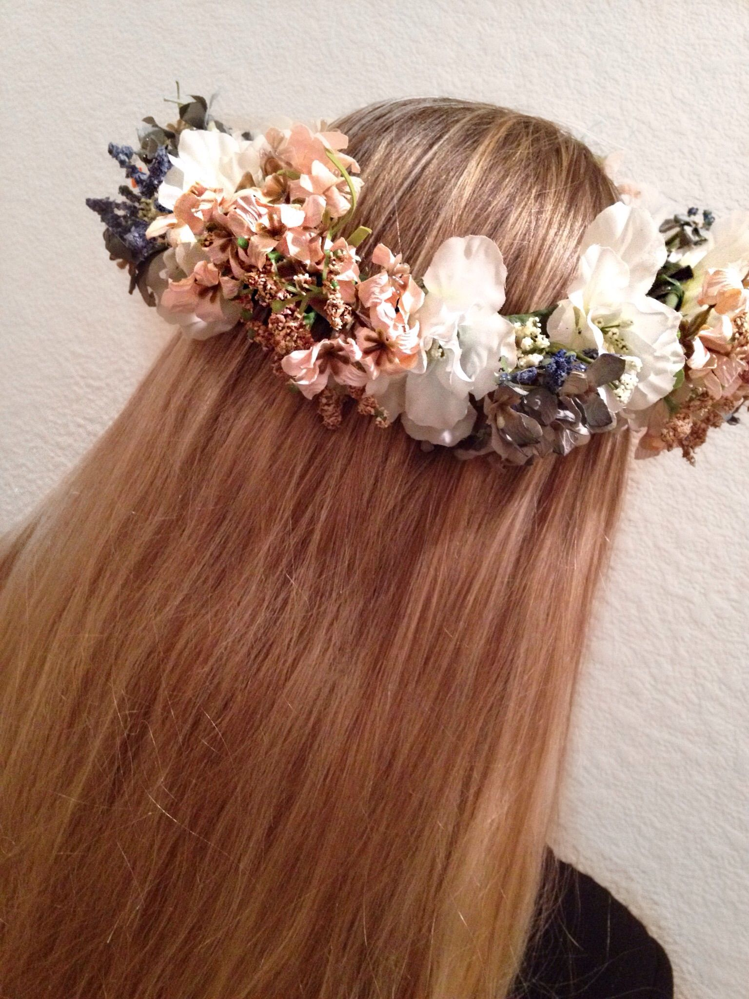 Add this pink blue green floral crown to any outfit perfect dor add this pink blue green floral crown to any outfit perfect dor your next festival izmirmasajfo