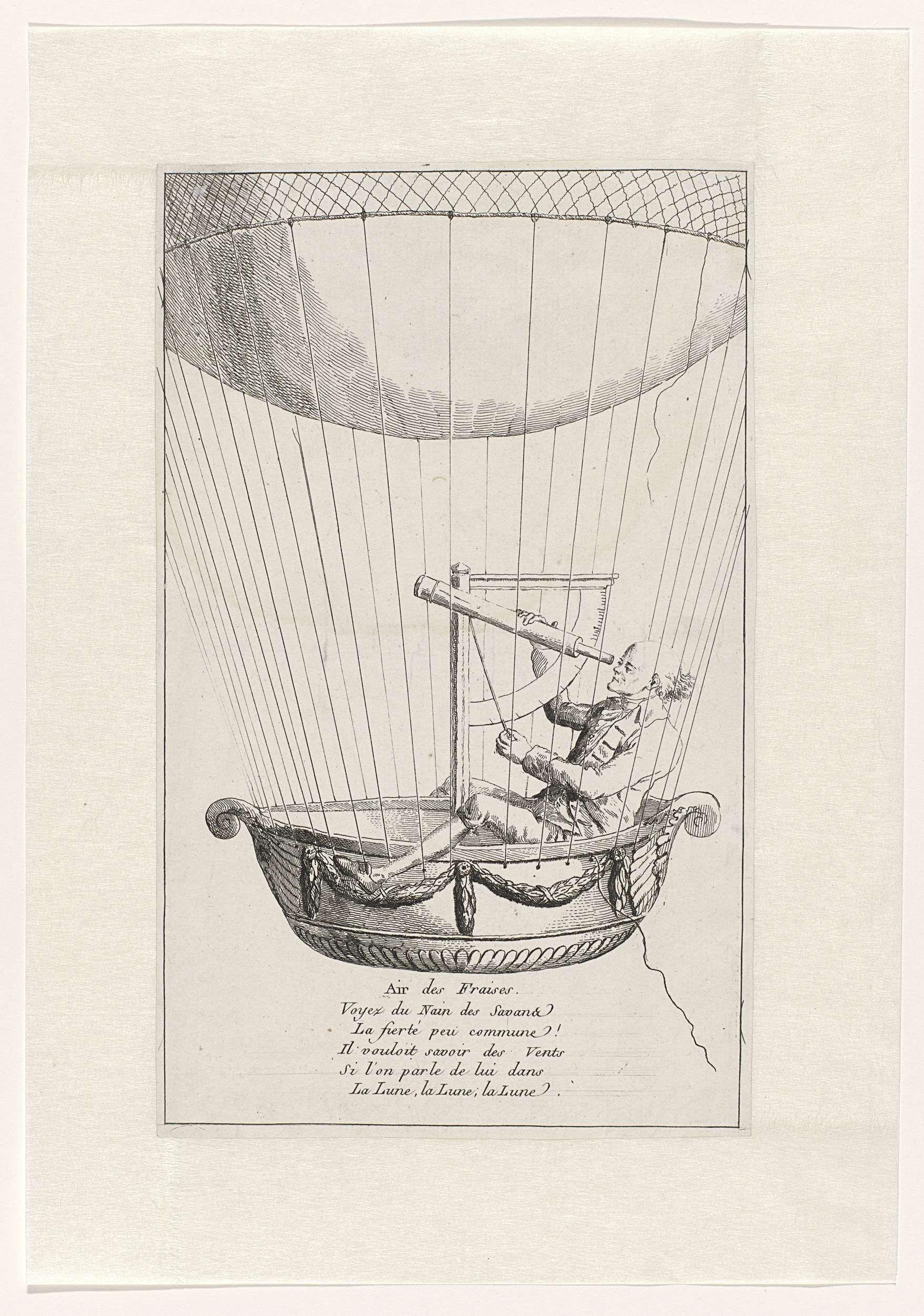 Anonymous | Satire op een ballonvaarder, Anonymous, 1700 - 1799 |