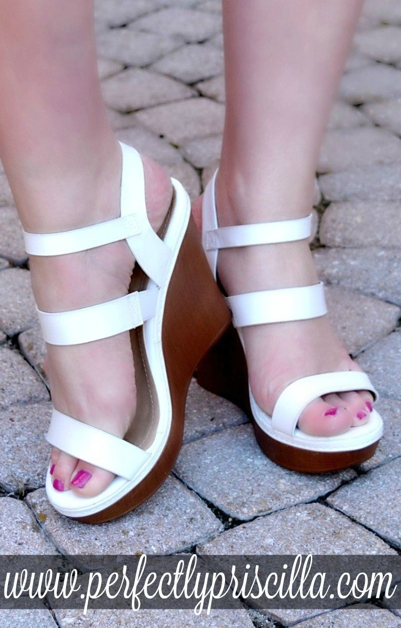 e43e818d31c8a8 What Goes Around Wedges - White in 2019