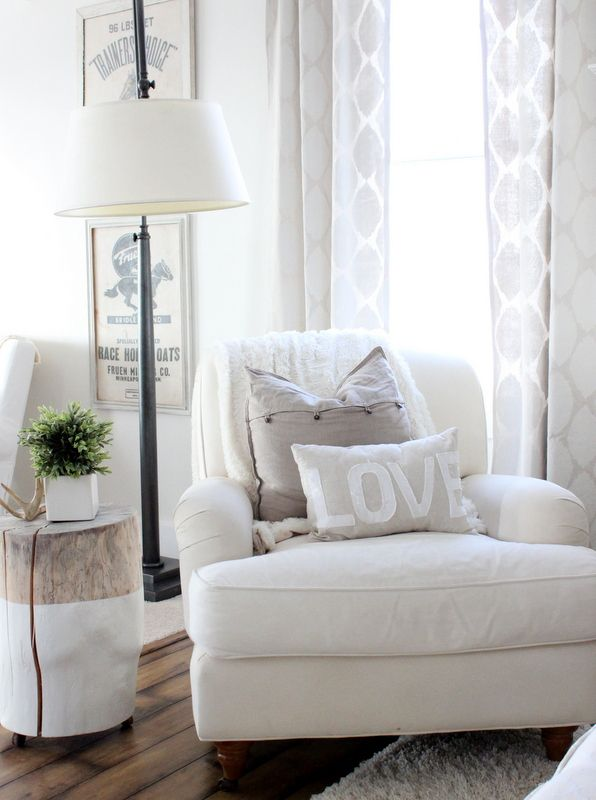 White Chaise Reading Nook Sitting Corner In 2019 Bedroom