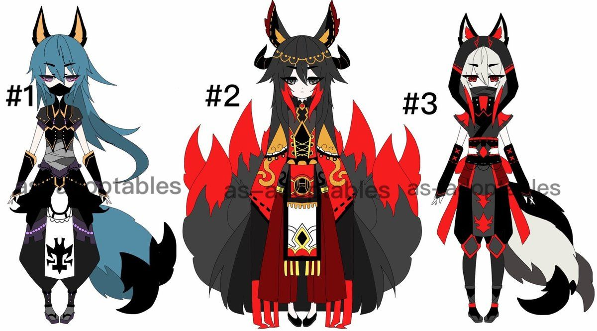 By As Adoptables On Deviantart Drawing Anime Clothes Yandere Anime Character Design Inspiration