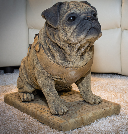 Detailed Pug Ornament Or Garden Statue Very Lifelike The Most Fantastic  Life Size Model Pug You
