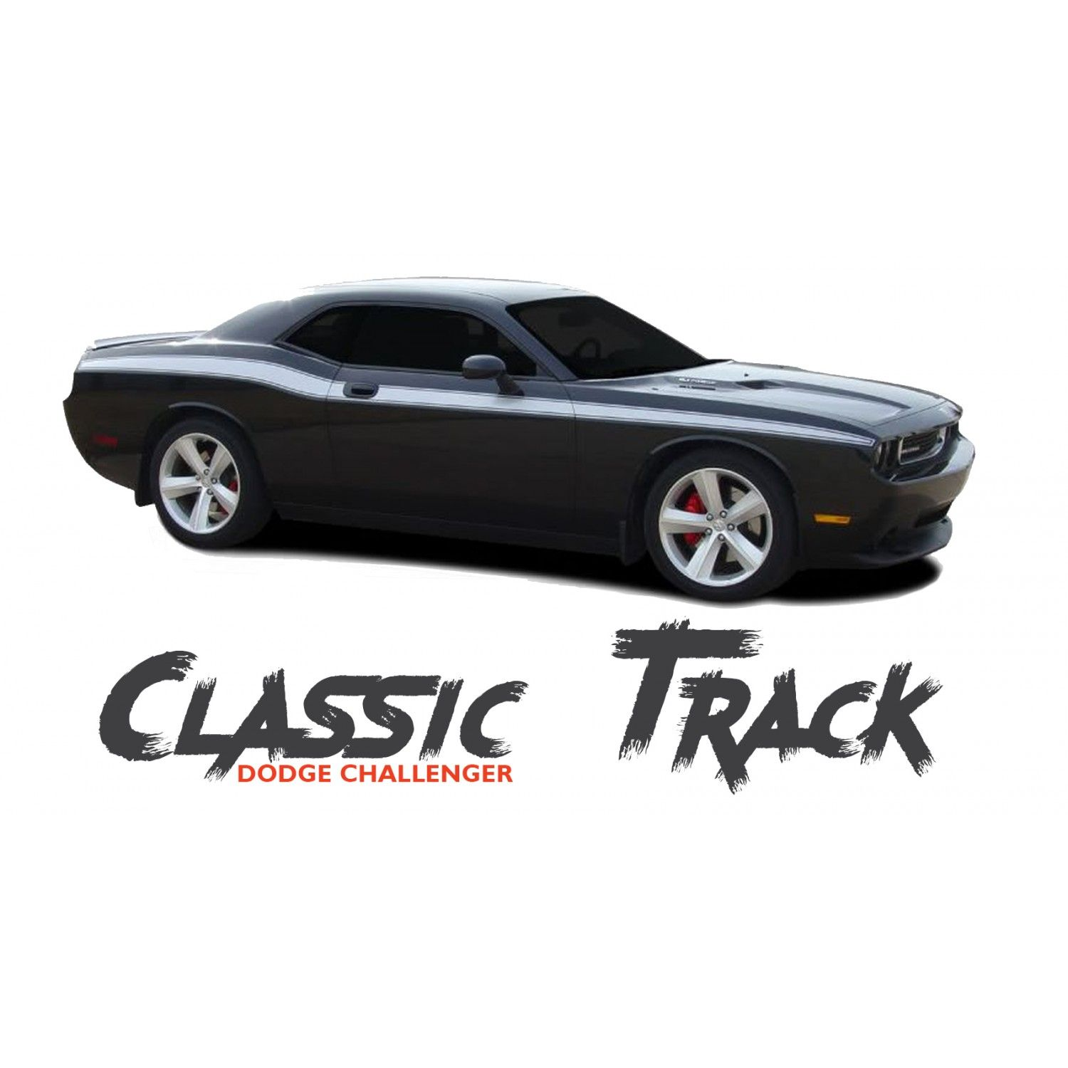 Dodge challenger classic track upper door accent body line striping vinyl graphic kit 2010 2011 2012