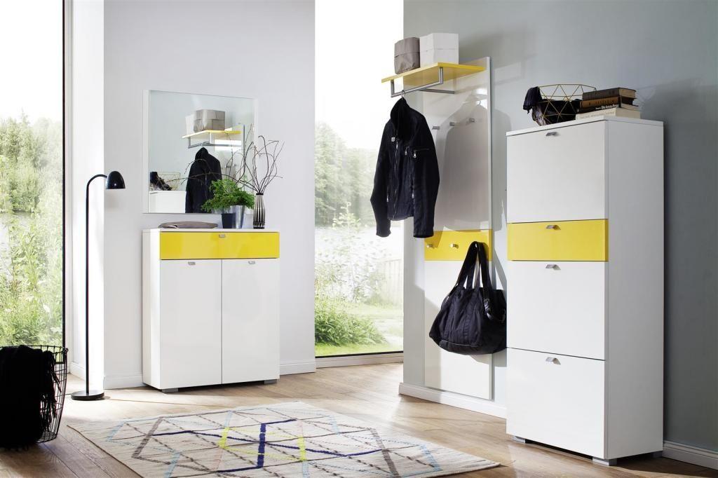 Wittenbreder Multi Color Una Garderobe Kombination 24 Weiss Gelb