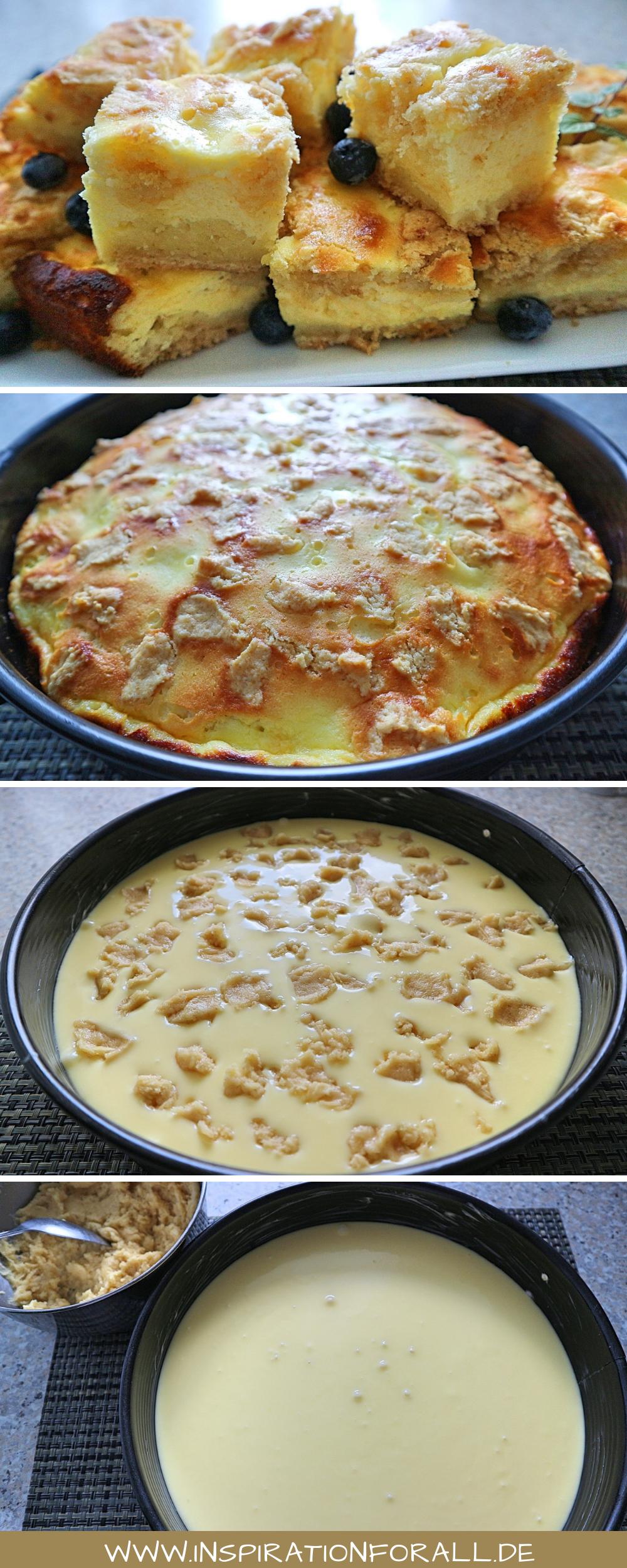 Quarkkuchen zarter – einfaches, schnelles & sehr leckeres Rezept – Leckere Rezepte von inspirationforall.de – einfach, schnell, besonders