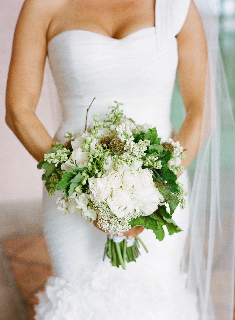 Green and white wedding dress  Museum of Fine Arts Wedding by Hype Group  flowers  Pinterest