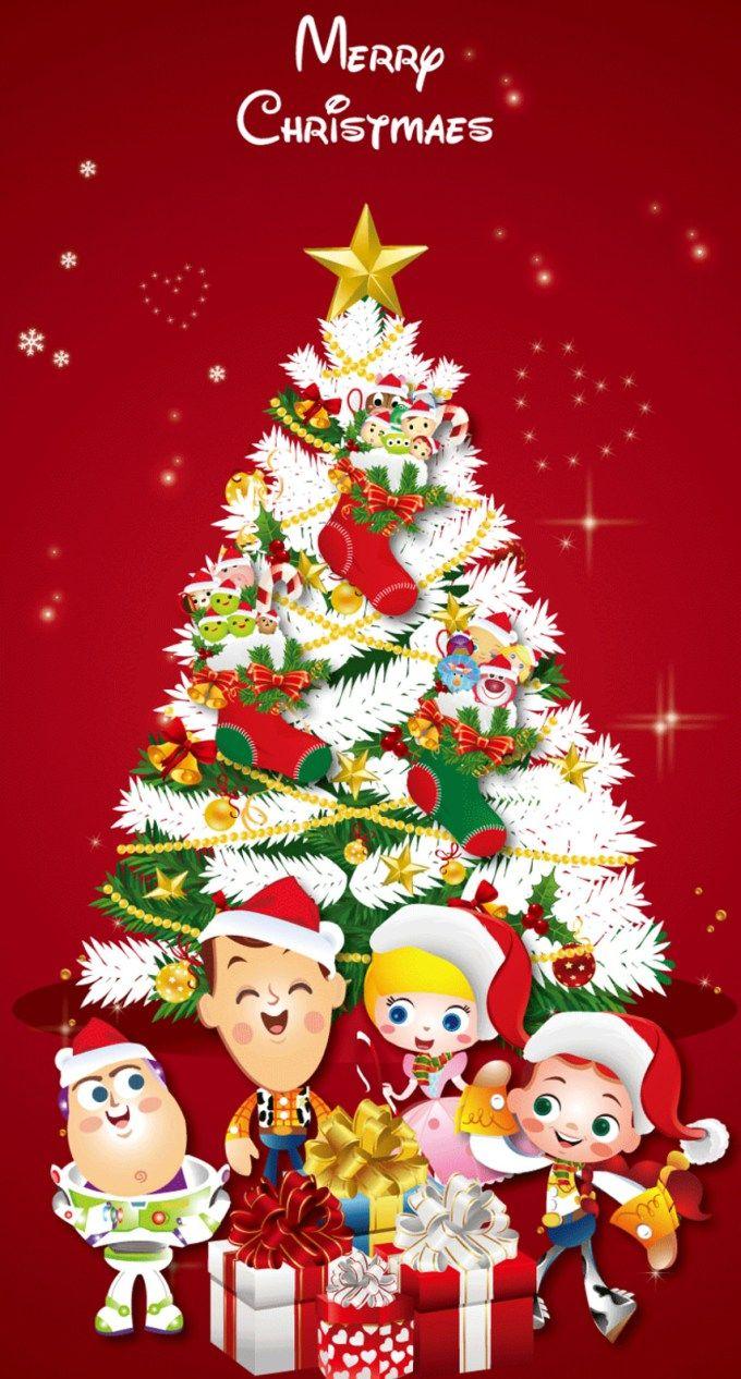 トイストーリーのクリスマス iPhone壁紙 Wallpaper Backgrounds iPhone6/6S