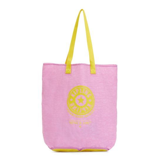 Hip Hurray Convertible Tote Bag - Sugarplum | Be ready for anything with our foldable tote. It folds down to pouch size for easy stowing and pops open to make the perfect emergency carry-all (i.e. for those flea markets when you buy way more than can fit in your handbag...)