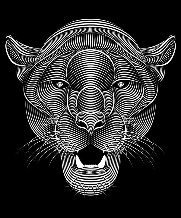 Panther on Behance by Patrick Seymour | Illustration ...