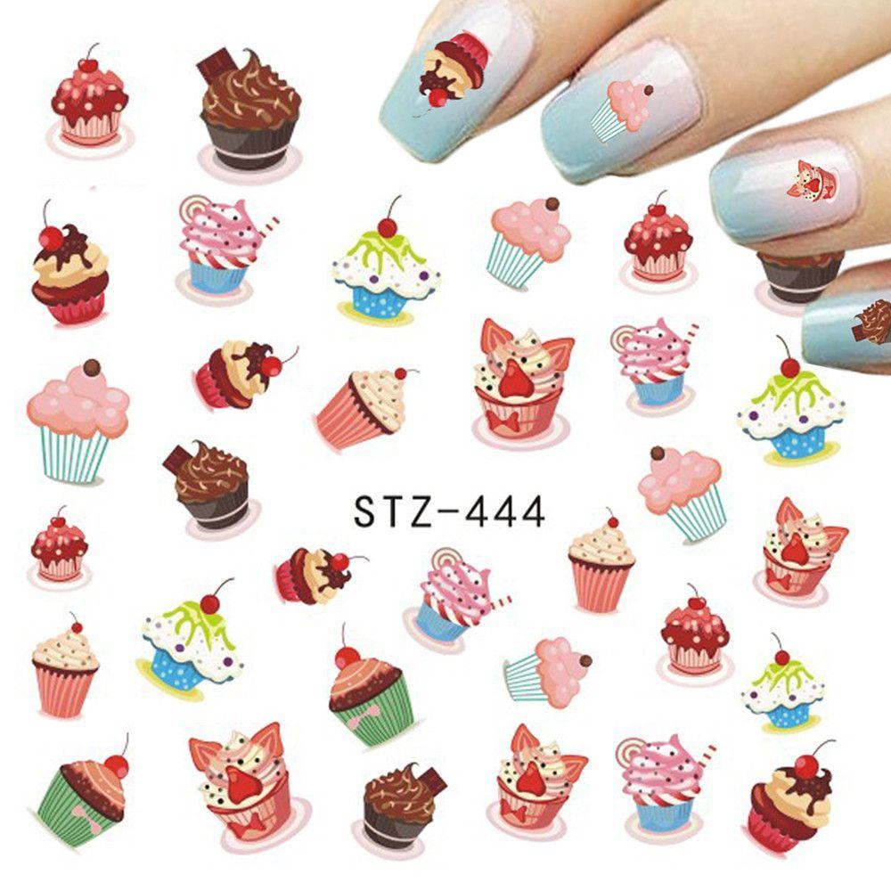 1pcs Nail Sticker Chocolate/Fruit/Cheese/Cream Cake Beauty Printing ...