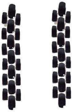 ShopStyle: J.W.Anderson Black Mondrian Earrings