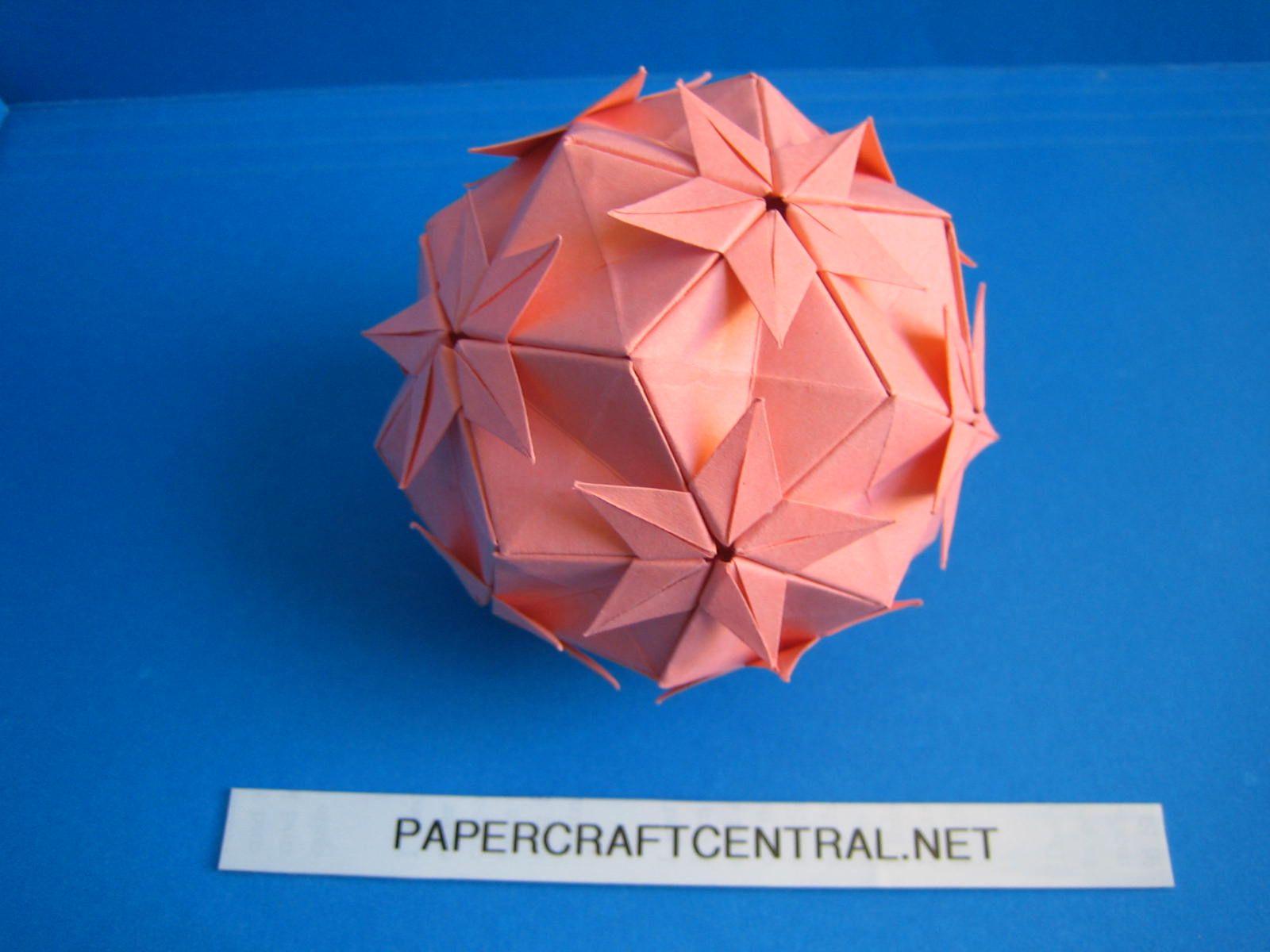 Origami Modular Flower Ball Kusudama Southern Cross Origami