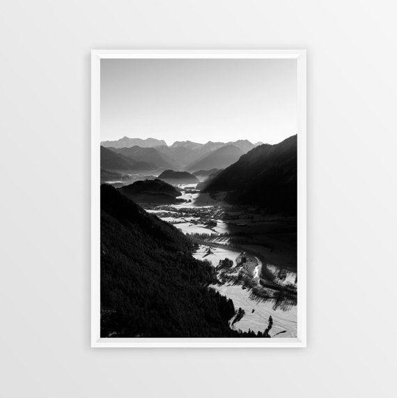 White prints black white photos ansel adams alps nature photography wall decor monochrome grunge mountains