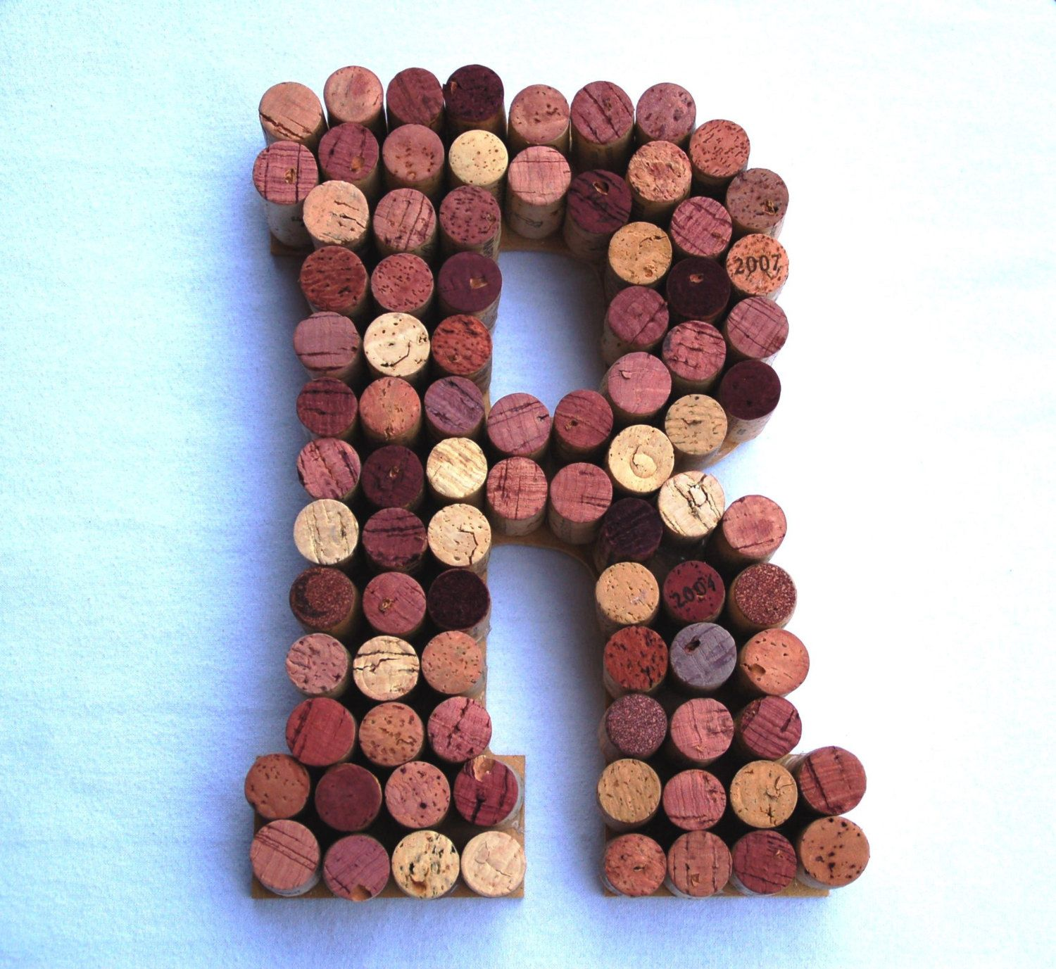 10 Wine Cork Letter R Made From Over 80 Wine