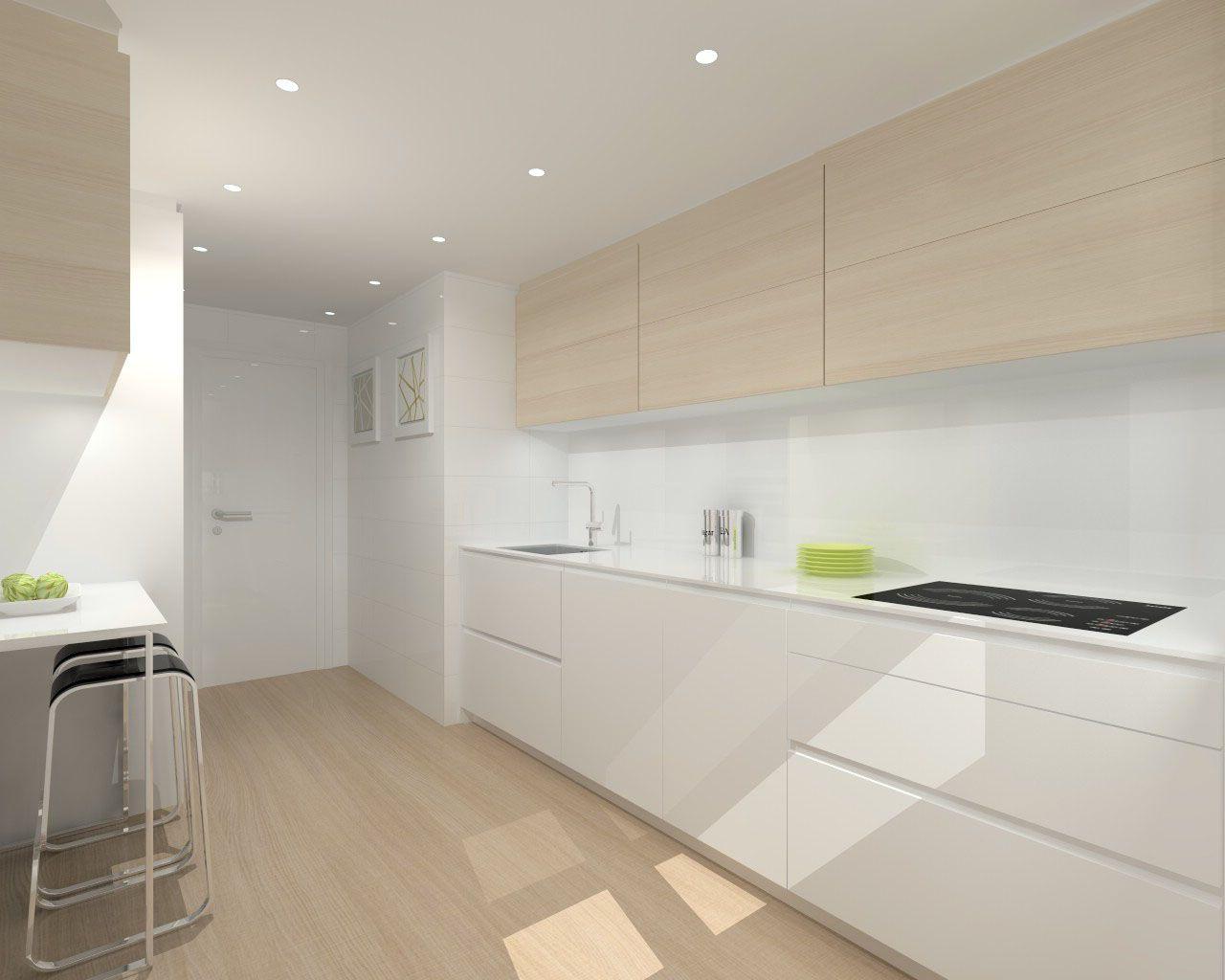 Modelo ariane e con encimera silestone cocina 1 en 2019 for Cocinas alargadas modernas
