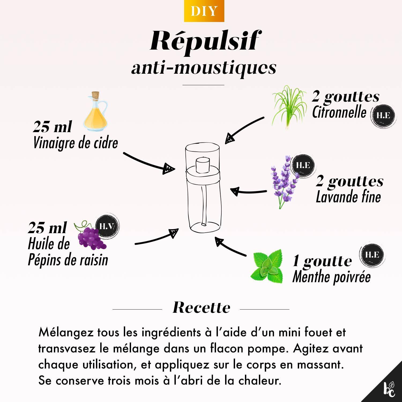 Je fabrique mon répulsif anti-moustiques - Beauté Chérie  Masque