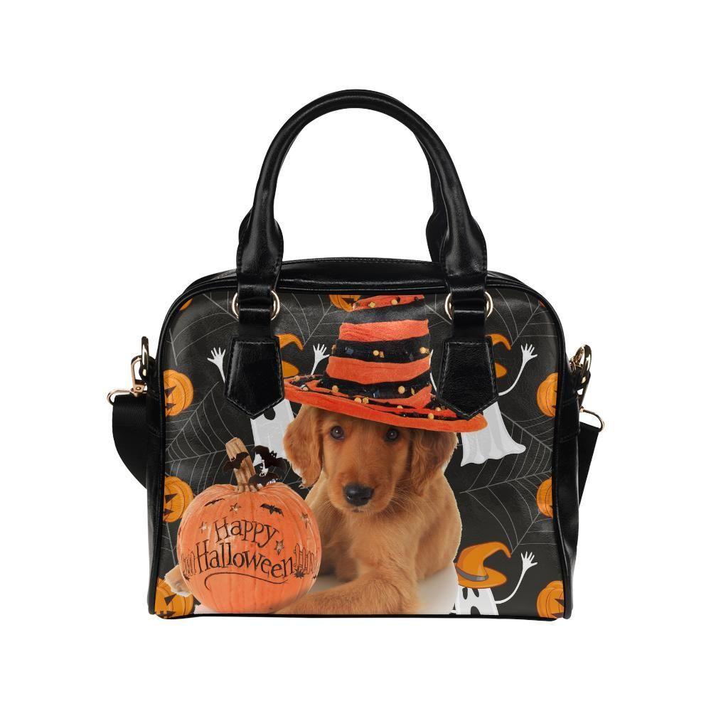 b609a43b704c  TeeAmazing -  e-joyer Golden Retriever Halloween Shoulder Handbag -  AdoreWe.com