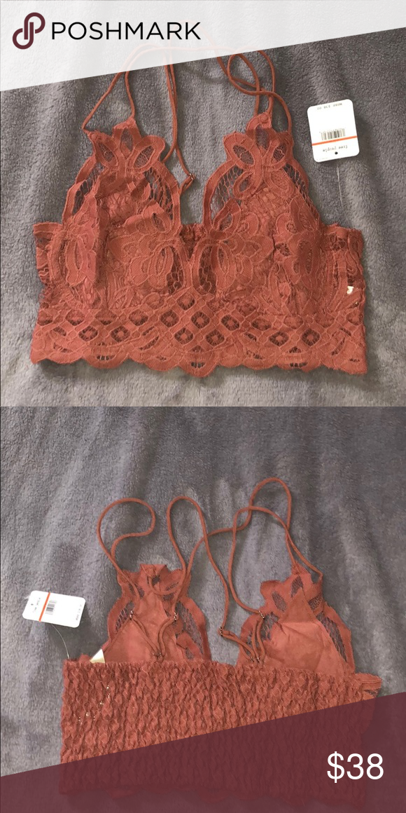 af2f333f05e07 Free People Adella Bralette Boho-inspired bralette featuring a crochet lace  design with a stretchy