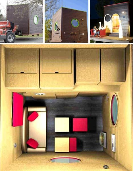 Beautiful 10x10 Cube House | ... Small Home Interior Designing Ideas For Tiny Cube  House Interior