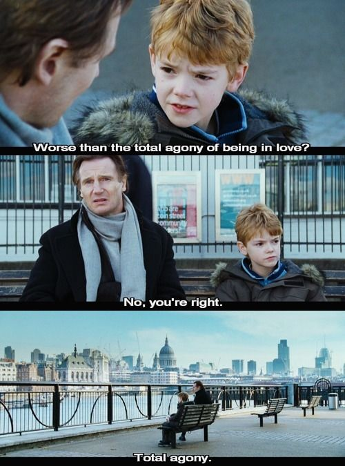 love actually ! I watched it twice this weekend and love it ! One of the best films ever !